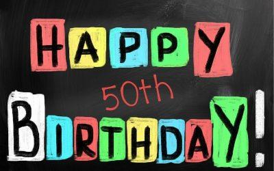 Happy 50th birthday banner
