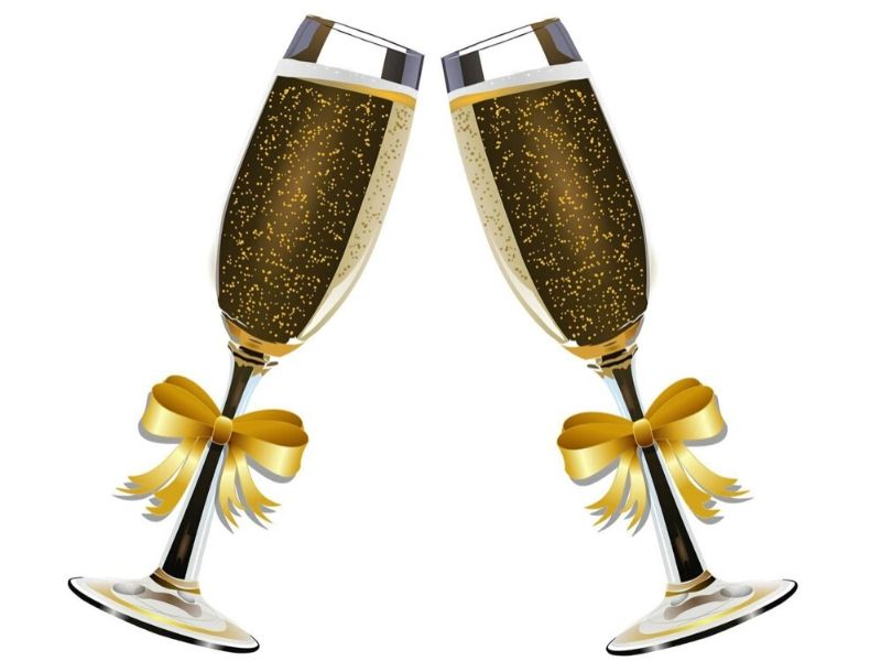 Champagne glasses for a toast