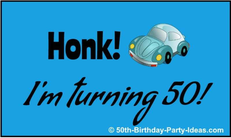 Honk, I'm tuning 50 banner