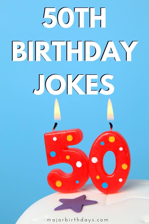 Jokes for 50th birthday - Pinterest image