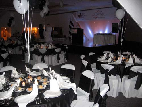 Black and white party theme