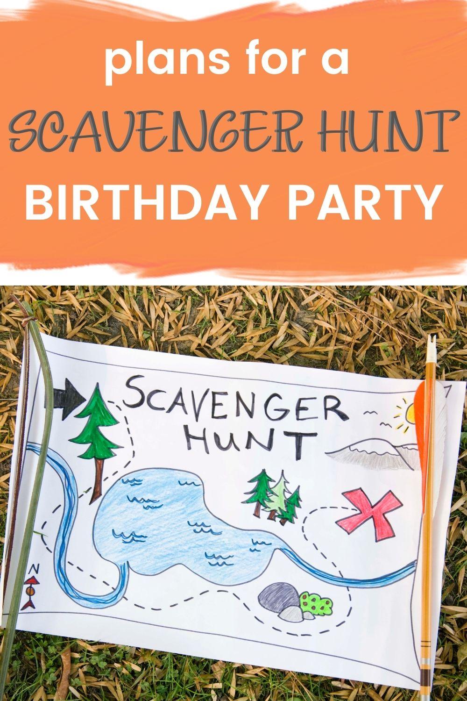 Scavenger hunt birthday party