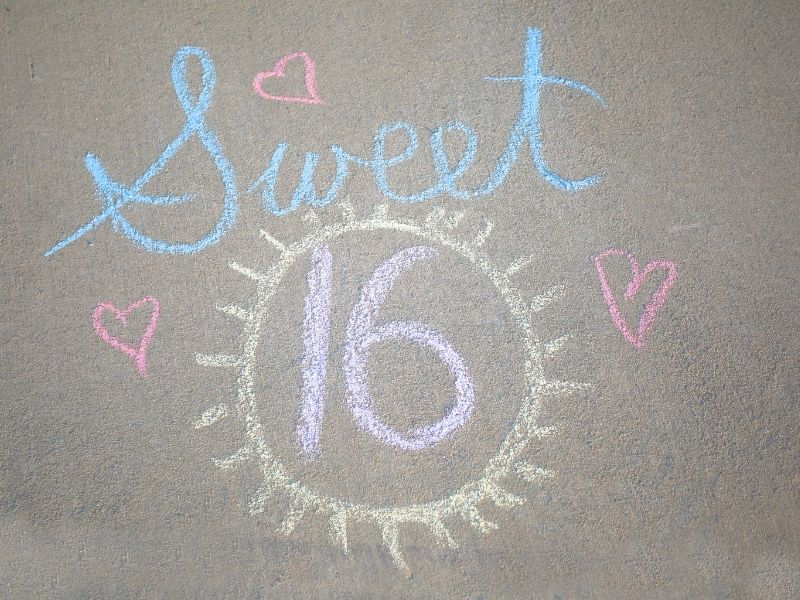 sweet 16 chalk art