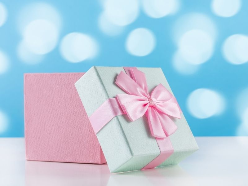 baby gift in a box
