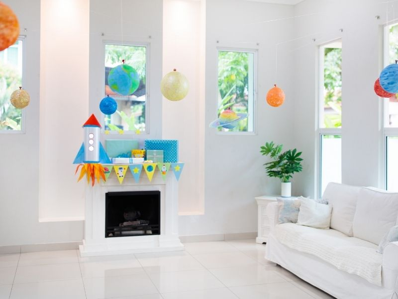 outer space theme party decorations