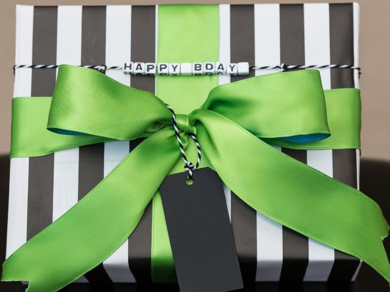 nicely wrapped birthday gift