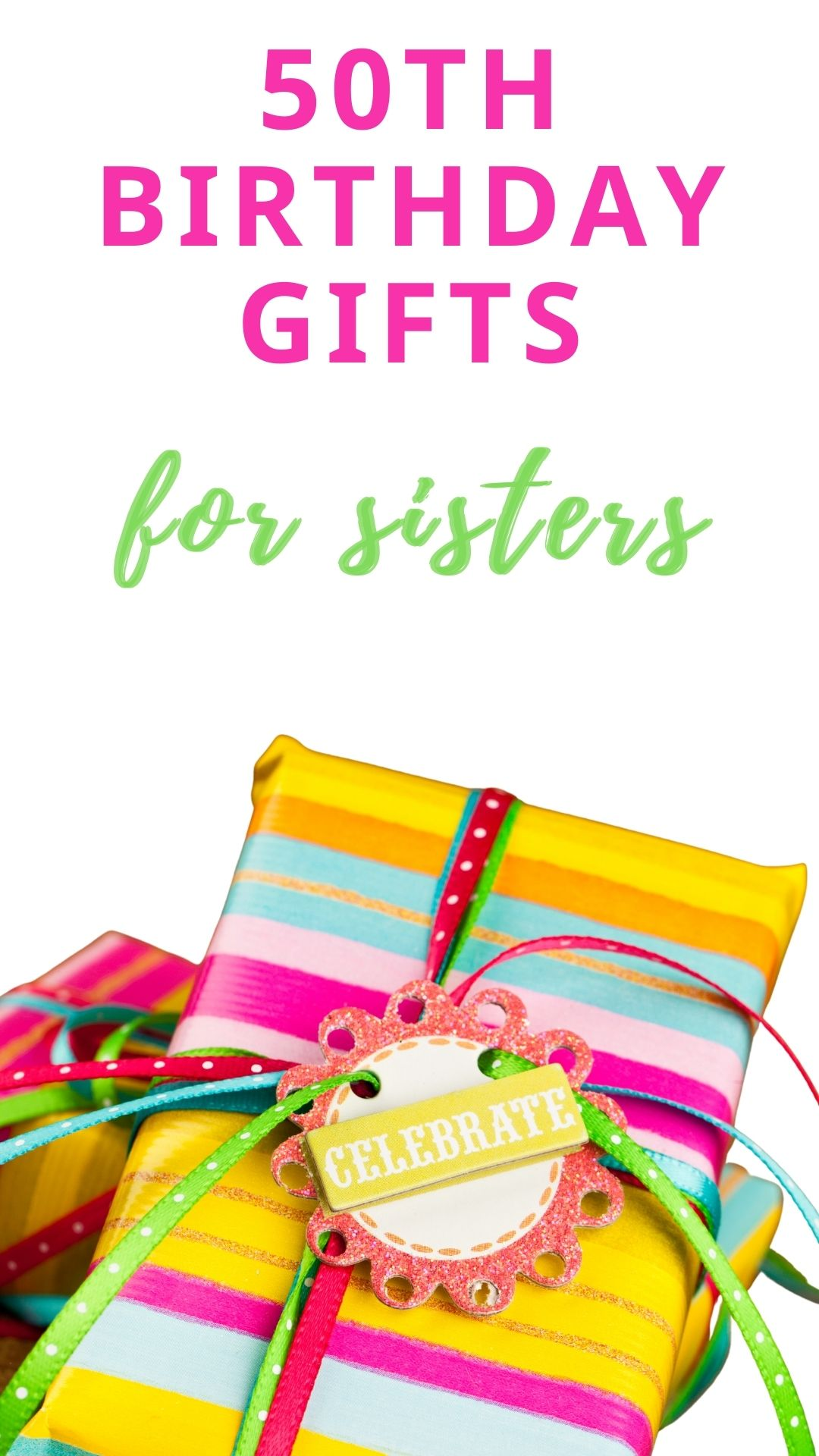 50th birthday gifts for sisters